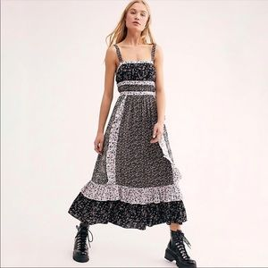 Free People| Midnight Yesica Floral Midi Dress